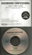 DASHBOARD CONFESSIONAL Don't Wait PROMO Radio DJ CD single 2006 MINT