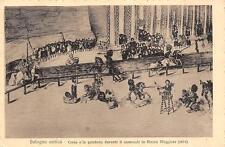 3271) BOLOGNA ANTICA CORSA ALLA QUINTA DURANTE IL CARNEVALE IN PIAZZA MAGGIORE.