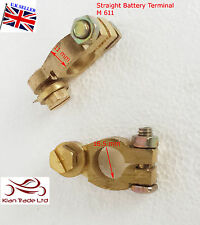 12V Car Battery Terminal Clamp Connector Heavy Duty Brass Bolt P& N + / - (M611)