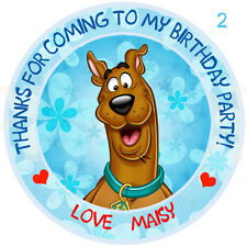 Personalised Scooby Doo  Round  50mm Stickers Party Thank You Seals