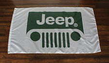Jeep Flag Green Grill AMC Dodge Cherokee Renegade Wagoneer Sign Banner J10 J20