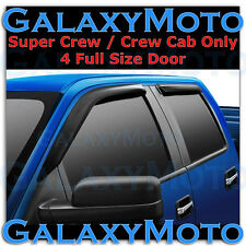 04-08 Ford F150 Super Crew Cab Smoke Tint 4 Door Window Visor Rain Sun Guard
