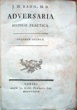 1779 – RAHN, ADVERSARIA MEDICO PRACTICA – MEDICINA MEDICINE BOTANICA BOTANY