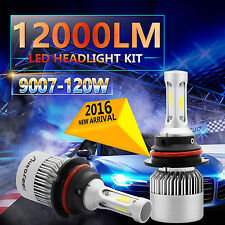9007 HB5 120W 12000LM CREE COB LED Headlight Kit Hi/Lo Power Bulbs 6500K White
