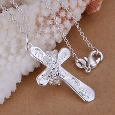 925 GORGEOUS SILVER CROWN CROSS PENDANT ROYAL QUEEN VALENTINES GIFT NEW ORLEANS
