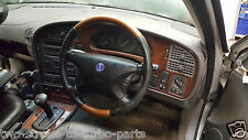 SAAB 9-5 98-05 Leather and Wood steering wheel 400107876 USED 19