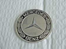 New for MERCEDES 74mm Hood Bonnet Badge Emblem Black & Chrome Free US Shipping