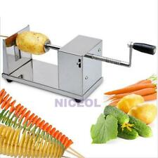 Manual Batata Stainless Steel Tornado Potato Spiral Slicer French Fry Cutter New