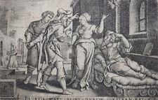 GEORG PENCZ ORIGINALE FOLGE 6 KUPFERSTICHE ALTES TESTAMENT BUCH TOBIAS UM 1543