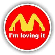 "I'm Loving It 4"" Decal Sticker Toolbox Hard Hat JDM Phone Funny Car Hatch Civic"