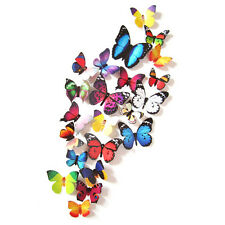 24PCS 3D Butterfly Decal Wall Stickers/Magnetic Home Decor Room Vinyl Art