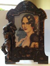 Art Nouveau Picture Frame Cast Iron Early 20th Cntry - Victorian Large Vintage