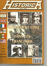 HISTORICA  HS  N° 37 CINQ DANS LES TRANCHEE - churchill - de gaulle - hitlar etc