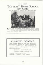 1932 School Mistral Home School For Girls Neuchatel Henri Bura Ad