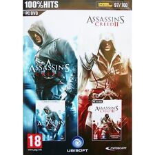Assassins Creed and Assassins Creed II 2 Double Pack Game PC 100% Brand New