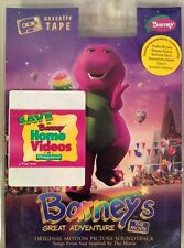 Barney's Great Adventure Movie Soundtrack (Children) Cassette1998, Lyrick *NEW*