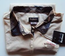 Womens BARBOUR T-SHIRT mollard polo tartan trim size 16 new tags rrp £45 STONE
