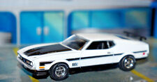 LIMITED WHITE 1971 71 FORD MUSTANG MACH 1 351 RAM AIR 1/64 SCALE AW  AUTO WORLD
