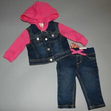 Baby girl clothes, 18 months, Arizona Sweatshirt lined Jean Jacket/Jeans