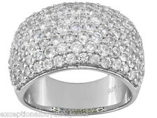 MENS  WOMENS DIAMOND ZIRCON WEDDING BAND RING SZ 5 SZ 6 SZ 7 SZ 8 SZ 9 SZ 10