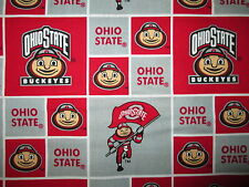 OHIO STATE UNIVERSITY BUCKEYES CHECKED COTTON FABRIC FQ