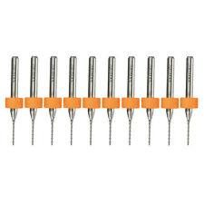 PCB CNC 10Pcs Print Circuit Board Carbide Micro Drill Bits Tool 0.8mm Hard Alloy