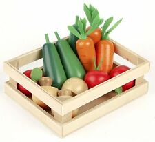 NEW WINTER VEGETABLES Wooden Play Food - 12 pcs & crate TIDLO Pretend Food