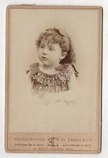 PHOTO ANCIENNE CABINET Portrait Enfant Robe Etienne CARJAT Vers 1900 Paris