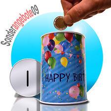 Happy Birthday Blech Spardosen mit Spruch Spardose Metall Sparbüchse Sparschwein