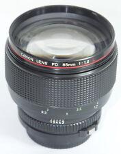 MINT- Canon FD 85mm f/1.2 L 85mm f1.2L 1,2 Lens BT-72 HOOD