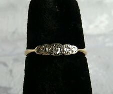 Classic Edwardian Deco 18Ct Yellow Gold Diamond Ring, size L 3/4