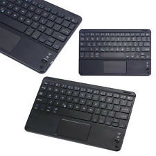 Teclado Bluetooth Inalámbrico Ultra Fino Touchpad Para 17.8 - 25.4 Cm Android