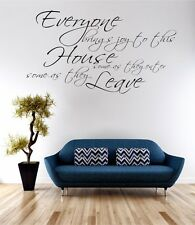 Everybody Brings Joy To This House Wall Art Sticker Quote Decal Vinyl Transfer