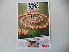 advertising Pubblicità 1968 AMARO CORA e GIULIO BOSETTI/GAIA GERMANI