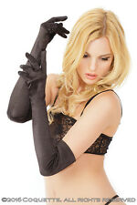 Sexy Satin lycra Long Black gloves Ball Room Fancy Dress Opera Dom Prom CQ1705