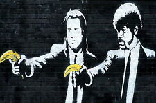 Banksy Pulp fiction BANANAS poster  A2 SIZE