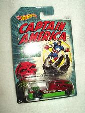 Action Figure Marvel Hot Wheels Car Captain America Red Skull Qombee 8/8