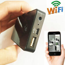 wireless Wifi Spy 1080P Portable Power Bank Battery Pinhole Mini Camera DVR