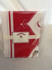 "Pottery Barn Kids Santa Tablecloth 70"" wide x 90"" long"