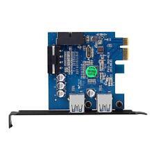 PCI-E espresso USB 3.0 2 porte HUB Scheda adattatore a 20 pin del connettore