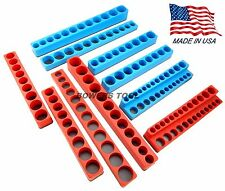 Mechanics Time Saver 10pc 1/4 3/8 1/2 in Drive Magnetic Socket Tray Holder MTS