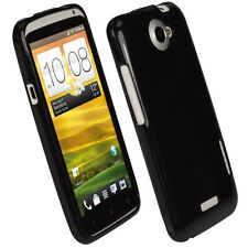 Black Glossy TPU Gel Case for HTC One X + Plus S720e Android Skin Cover Holder 1
