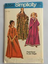 Caftan Simplicity Pattern 8354 VTG 1969 Sewing Uncut Women Hippie Dress One Size