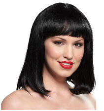 Synthetic Role play Reenactment or Crossdresser Costume Short Black Wig