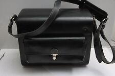 """Black Shoulder Case Camera Bag - Approx 6x9x11.5"""" - Quick Flip Open - VINTAGE DT"""
