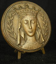 * Médaille 126mm 258g religieuse religious Vierge-Marie Virgin Maria medal 铜牌