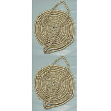 2 Pack of 1/4 Inch x 6 Ft Gold & White Double Braid Nylon Fender Lines for Boats