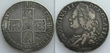 Silver 1746 King George II Half-Crown Coin - Lima - Counter-stamped M
