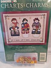 Dimensions LET IT SNOW WHILE I SEW Counted Cross Stitch Chart & Accessories