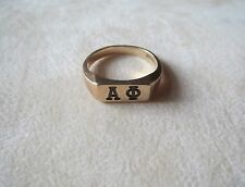 10k Yellow Gold Balfour Alpha Phi Sorority Ring 4.38 Grams Size 7 3/4
